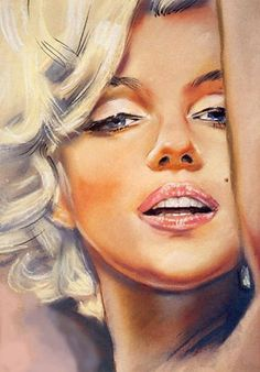 Marilyn Monroe. In LOVE with this artwork! I must have it hanging on my wall this minute! I guess re-pinning it for the 33rd time will have to do for now..... Anyone know the artist????