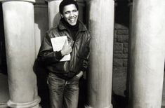 a young Barack Obama. his politics aren't perfect but gosh, I just love this man.