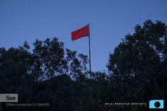 Bloody Flag Glorious flag by sarpgultemiz  ağaçlar aşkam bayrak blue dağlar duvar evening flag gece gökyüzü light mavi mountain night sky stone