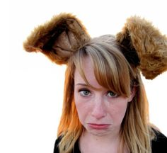 Deluxe ears headband - long brown bunny ears - Woodland creature ears £18.00 By Silly things for silly folk