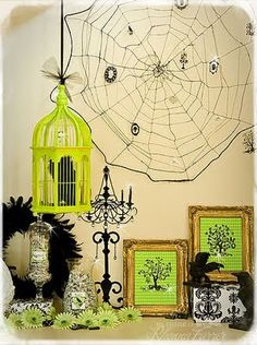 lime green and black halloween =  awesomeness!
