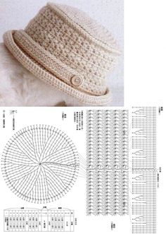 Crochet hat pattern Newsboy hat pattern crochet by ktandthesquid Bonnet Crochet, Crochet Beret, Crochet Cap, Crochet Diagram, Crochet Stitches, Knitted Hats, Crochet Crafts, Crochet Projects, Diy Crafts