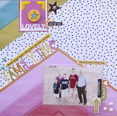 Bella Blvd IF Whatever Is Lovely collection and Just Add Color collection. Family Time layout by creative team member Jennie McGarvey.