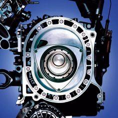 Mazda rotary engine cutaway