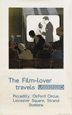 The Film-Lover travels by Underground, by Charles Paine, c. 1925