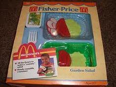 fisher price fun with food mcdonald's garden salad set