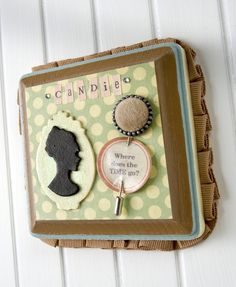 Personalized Candie plaque with polka dots and glitter