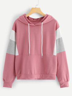 Shop Cut And Sew Drawstring Hoodie online. SHEIN offers Cut And Sew Drawstring Hoodie & more to fit your fashionable needs. Hoodie Sweatshirts, Hoodies, Shein Pull, Fashion News, Fashion Outfits, Womens Fashion, Sweat Shirt, Pulls, Cute Outfits