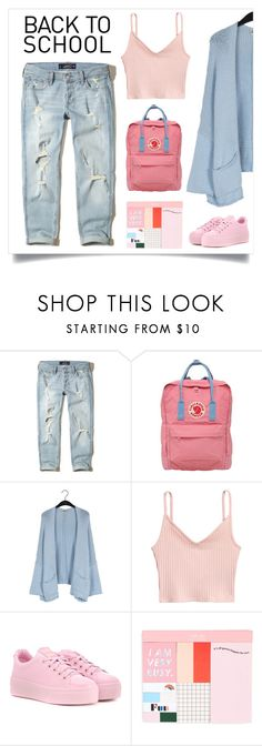 """""""Back To School Shopping"""" by agathaputri ❤ liked on Polyvore featuring Hollister Co., Fjällräven, Twist & Tango, Kenzo, ban.do, BackToSchool and backpack"""