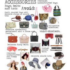 Flamboyant Gamine (FG) Accessories - Bags, Belts, Hats to avoid