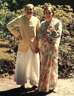 The Lord and Lady at Meher Spiritual Center in Myrtle Beach, South Carolina (US) in 1952.  Meher Baba with Mehera Irani.