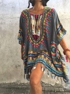 Bohemian ,beach poncho, beach festival boho ,summer kimono plus size,big size…