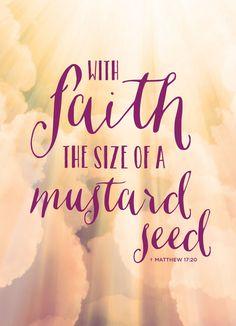 """Mustard """"With Faith..."""" Seed Favor"""