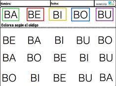 Cuaderno de reconocimiento Visual y lectura de sílabas directas.