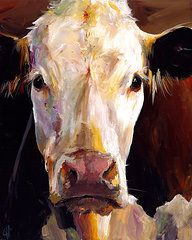 Cow Paintings - Gladys the Cow by Cari Humphry