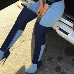 EDITOR'S NOTE Colorblock High Heel Thigh High Boots Super Trendy 2 color thigh high boots. Available to buy in 2 colors.Hot Deal! Found in 2 suppliers…