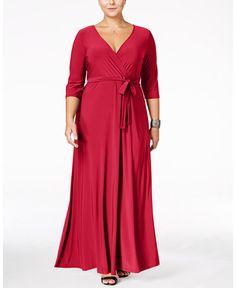 Love Squared Plus Size Faux-Wrap Maxi Dress - Blue Plus Size Maternity Dresses, Plus Size Dresses, Plus Size Outfits, Trendy Plus Size Clothing, Plus Size Fashion, Daytime Dresses, Formal Dresses, Plus Size Pregnancy, Maxi Wrap Dress