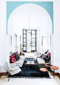 Tour an Eclectic Modern Family Home in Morocco via @mydomaine
