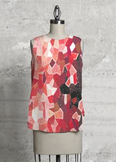 Red Passion- Sleeveless Top #moda #fashion #abstract #art