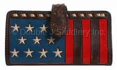 Painted Flag Ladies Wallet by Double J Saddlery.