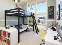 Le lit mezzazine pour un intérieur moderne