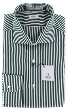 Barba Napoli Green Shirt - 14.5 US / 37 EU