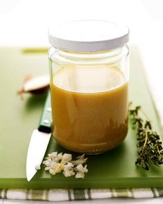 Try basic vinaigrette on mixed greens, steamed or boiled vegetables, such as greens beans, asparagus, broccoli, or potatoes.
