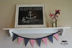 Project Nursery | Red and navy baby shower