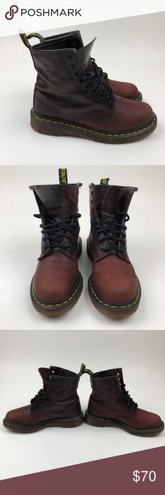 Dr. Martens 1460 Red Oxblood 8 Eye Lace Up Boots Dr. Martens 1460 Red Oxblood Smooth 8 Eye Lace Up Women's Boots Size 6 Dr. Martens 1460 Red Oxblood Smooth 8 Eye Lace Up Women's Boots Size 6 Women's US size 6 Men's US Size 7 38 EU Pre-used condition If you know anything about these shoes, you know they last forever. Some scuffing and creasing. Please look at pictures. Dr. Martens Shoes Combat & Moto Boots
