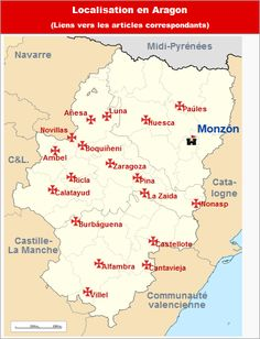 Commanderies templières en Aragon, Espagne