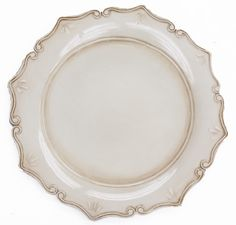 Royal Antique Charger Plate - Antique Ivory ● $2.99 ● Available from www.cvlinens.com