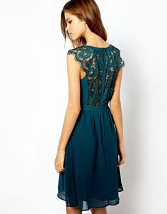 Lace back dress.