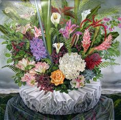 Amy Laskin - Oil on Canvas - 45.5 x 45.5 inches - Flora And Furbelow