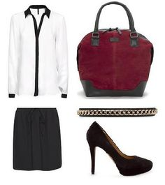 Black - white - chain - burgundy