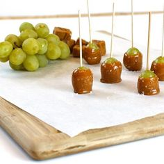 A twist on the classic caramel apple, these little pops pack salty caramel and fruity flavor into one scrumptious bite. Use cotton candy grapes for an...