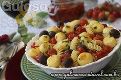 Receita de Fusilli de Quinoa com Tomatinhos Confitados