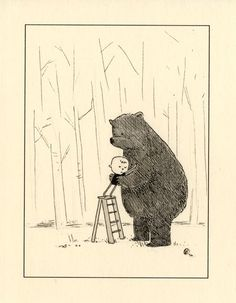 bear meets boy, by dustin harbin, via flickr #art #illustration #dustinharbin #bear #love