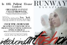 RUNWAY MAGAZINE® IS A REALLY HAUTE THIS SUMMER! | RUNWAY MAGAZINE Editorial | SS/14 Issue www.facebook.com/... | www.instagram.com... twitter.com/RUNWAYMAGAZINE Publisher: www.facebook.com/... Editor in Chief: Alejandro Di Lisko ★★ www.RUNWAYMAGAZIN... www.RUNWAYMAGAZIN... www.RUNWAYMAGAZIN... www.GOTRUNWAY.com www.RUNWAYMAGAZIN... Runway Magazine® | 77536081 | 3586631 Runway Magazine® | 85805139 Runway Magazine® International | 1058209