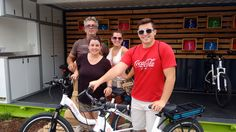 Slavin family from Kansas after their 2 hour Quikbyke ride around downtown Omaha and river front.