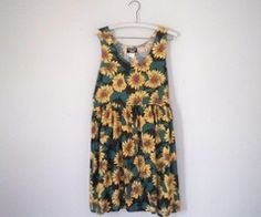 Don't know why the sunflower dresses were a fad but... they sure were and I had one:p