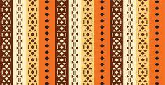 Wallpaper Design : Ethnic Orange Striped
