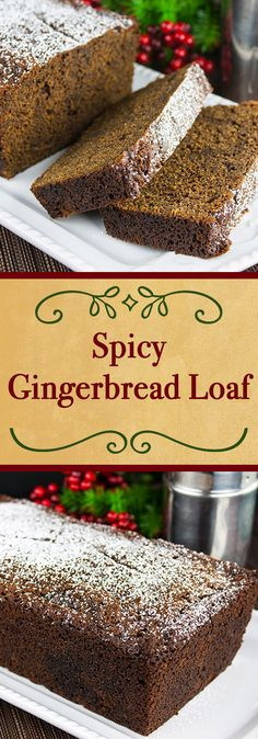 Spicy Gingerbread Loaf - It's not just for the holidays. Moist, slightly sticky, sweet and loaded with spicy goodness. This gingerbread loaf needs nothing more than a nice, piping hot cup of coffee to accompany it.