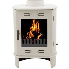 Sage Green Enamel cast iron Carron Round Dante Multifuel Enamelled Defra Approved Wood Log Burning Stoves online and for sale in our shop. Leeds, Flame Picture, Modern Stoves, Stoves For Sale, Log Burning Stoves, Wood Fuel, Seasoned Wood, Multi Fuel Stove, Cast Iron Stove