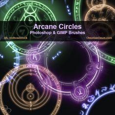 Arcane Circles-Symbols Brushes by redheadstock.deviantart.com on @deviantART