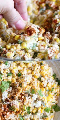 Carnitas, Barbacoa, Mexican Street Corn Salad, Mexican Corn Dip, Best Mexican Street Corn Recipe, Mexican Corn Side Dish, Healthy Dips, Healthy Soup Recipes, Cooking Recipes
