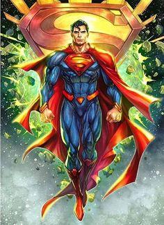 Superman Artwork, Superman Wallpaper, Batman Comic Art, Batman Comics, Superman Images, Superman Characters, Dc Comics Characters, Dc Comics Art, Mundo Superman
