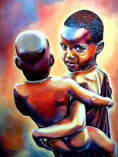 African American Artist, American Artists, African Art, Black Art Painting, Black Art Pictures, Fashion Wall Art, Black Women Art, Baby Art, Chalk Art