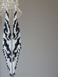 Galloping Zebra Extra Long Hand Woven Seed Bead by SoukySuz, $90.00
