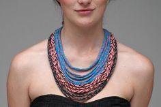 Como fazer colares de tecido ou trapilho - Dicas de Mulher …