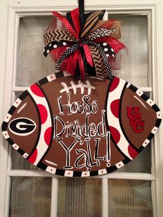 House Divided Yall Georgia and USC Football Door Hanger